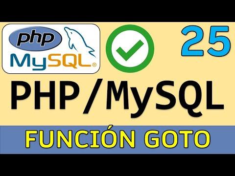 Tutorial PHP - 25. Función GOTO en PHP | UskoKruM2010