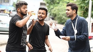 Drinking Pee / URINE Prank In India - Baap Of Bakchod - Raj & Sid