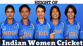 Beautiful Indian Womens Cricket Team All Players Height Comparison 2020-2021