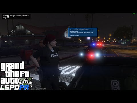 GTA 5 LSPDFR 0.3 Police Mod 94 | Female Patrol | Crazy Gang Fight Downtown | Secondary Callouts