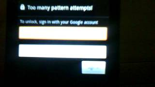 How to unlock Too many Patterns locked on Android