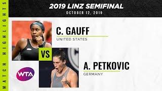 Coco Gauff vs. Andrea Petkovic | 2019 Linz Semifinal | WTA Highlights