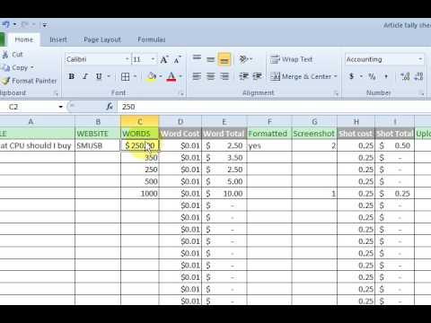 Basic Excel Formulas - Add, Subtract, Divide, Multiply