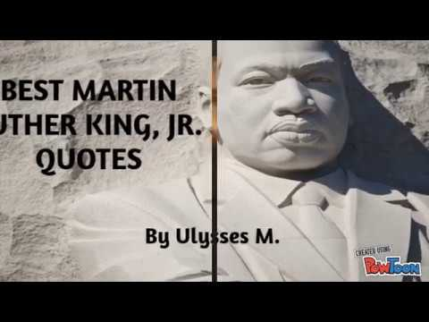 Martin Luther King, Jr. Quotes - PowToon