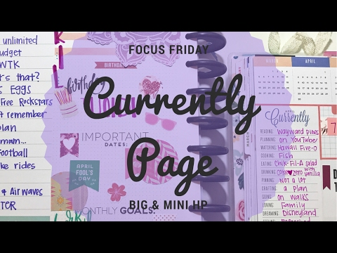 Focus Friday-Happy Planner Currently Pages