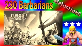 Clash of Clans - 3 Star With What?|230 Barbs ONLY|Episode 1