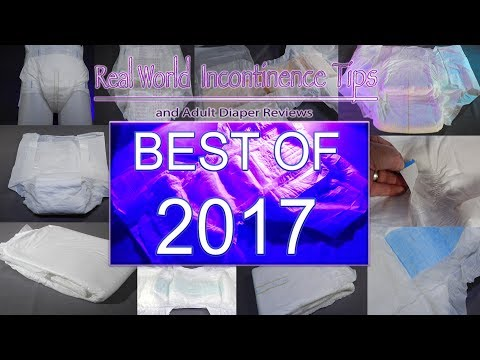 Best Incontinence Products / Adult Diaper tested in 2017