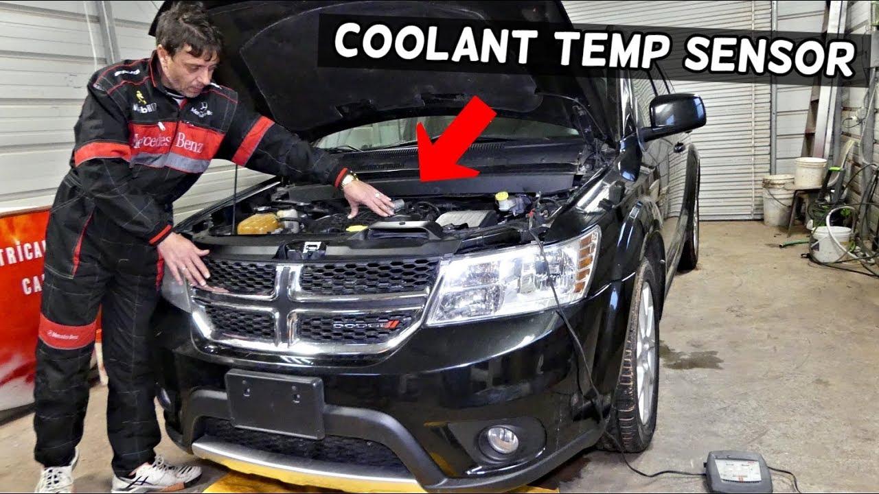 medium resolution of dodge journey coolant temperature sensor location replacement