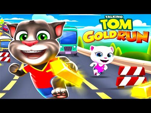 Говорящий Том Бег за Золотом (Talking Tom Gold Run) - Прохождение №2 (Gameplay IOS/Android)