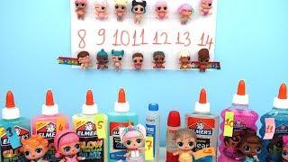 LOL Lil Sisters İsimden ne çıkarsa 3 renk tutkal slime challenge! Ne çıkarsa Bidünya Oyuncak