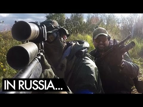 Russian Airsoft Milsim Wargame 9 Part 2 - Airsoft Sniper Gameplay - Novritsch