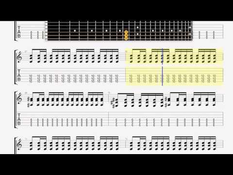 Avenged Sevenfold   Second Heartbeat GUITAR 1 TABLATURE