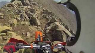 Sketchy singletrack ridgline riding