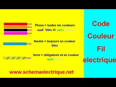 code couleur fil installation electrique youtube. Black Bedroom Furniture Sets. Home Design Ideas