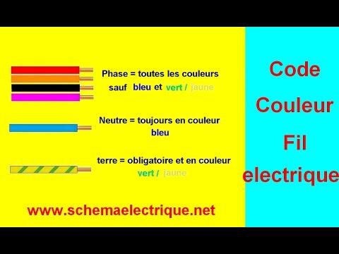code couleur fil installation electrique - YouTube - Couleur Des Fils Electrique