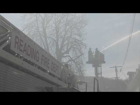 3-alarm factory fire in Reading, PA  04/02/17
