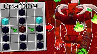 CRAFTING THE SCARIEST MINECRAFT BOSS EVER!!