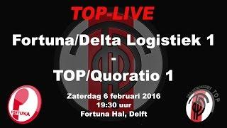 Fortuna/Delta Logistiek 1 tegen TOP/Quoratio 1, zaterdag 6 februari 2016