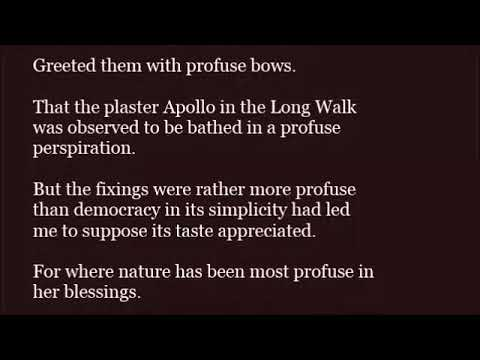 Profuse in a sentence youtube profuse in a sentence m4hsunfo