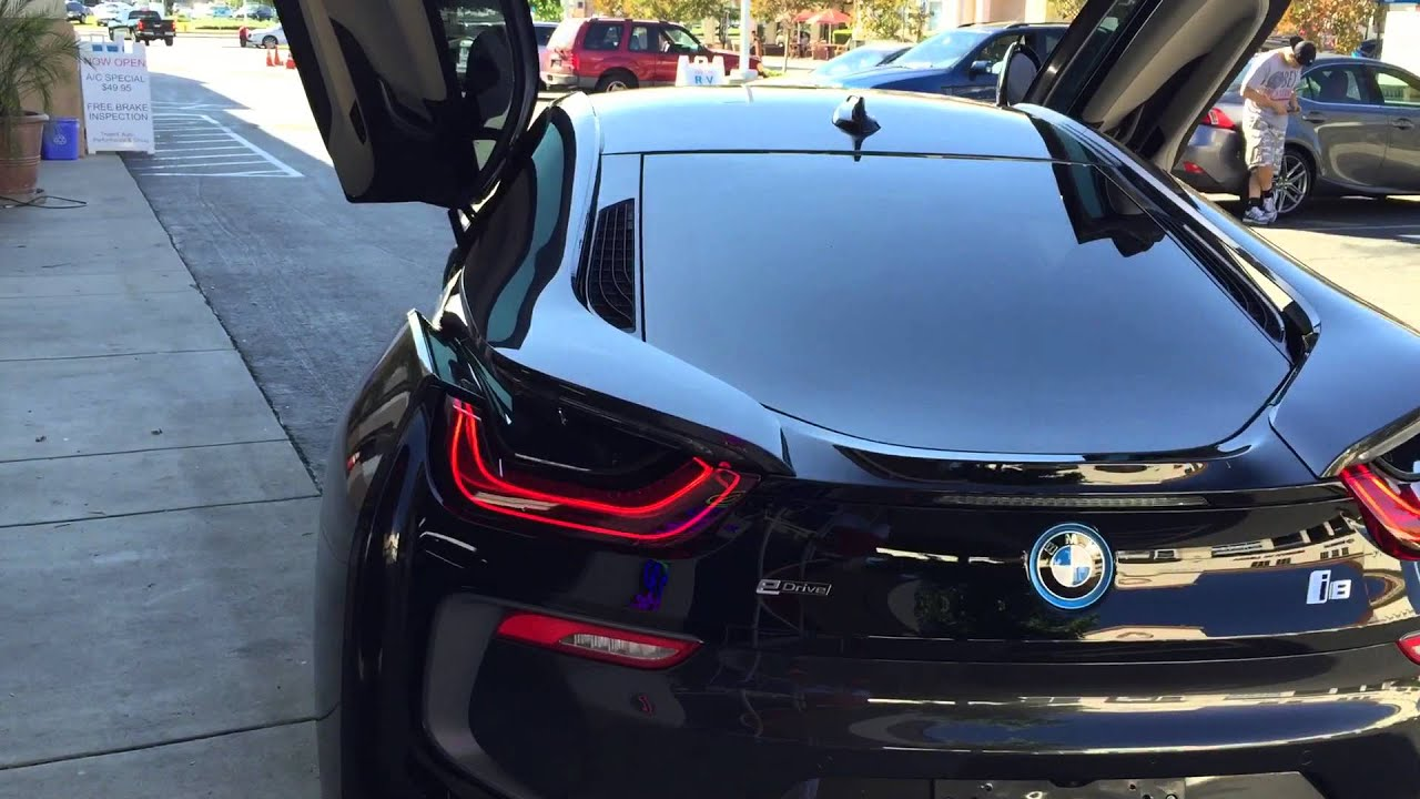 Fresh window tint presents bmw i8