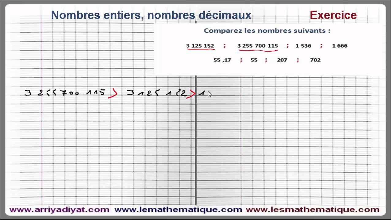 Maths 6ème - Nombres entiers et nombres décimaux Exercice 2 - YouTube
