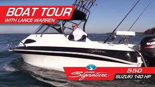 Tour of the Haines Signature 550 with Suzuki 140 HP with Lance Warren
