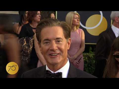 Kyle MacLachlan on 75th Golden Globes Red Carpet