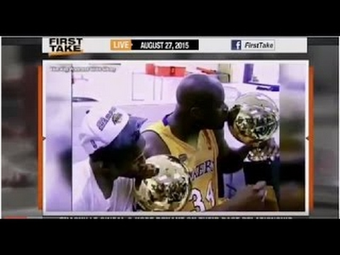 First Take Kobe Bryant ARGUE about his Dispute with Shaq