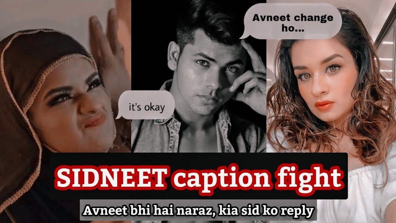 Sidneet caption fight - Kya Avneet bhi hai siddharth se naraz? - Avneet Kaur - Siddharth Nigam