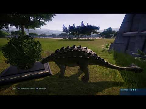 jurassic-world-evolution:-jp-tyrannosaurus-rex-vs-euplocephalus-(base-genome)