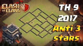 Th9 War Base Anti 3 Star Anti Lavaloon Anti Everything Anti Valkyrie Clash of Clans