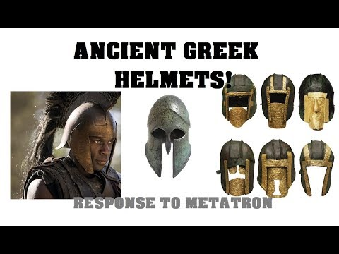 Ancient Greek Helmets  Response to Metatron on Achilles helmet in Troy Fall of a City