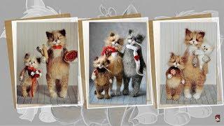 Удивительные коты от Ольги Бессогоновой.