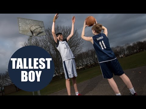 A 16-year-old British lad is being hailed as the tallest teen in the world