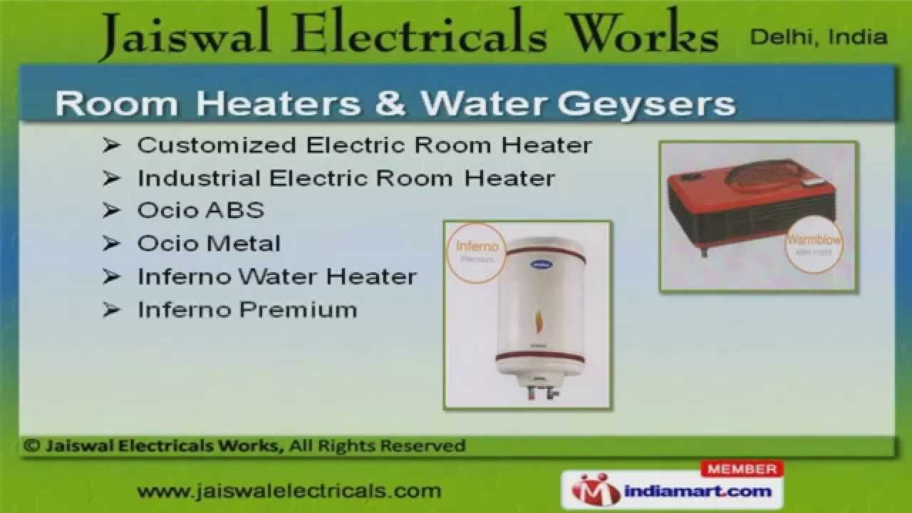 Electric Dry Iron by Jaiswal Electricals Works Delhi - YouTube