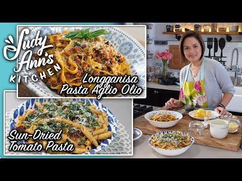 [Judy Ann's Kitchen 10] Ep 4 : Cacio e Pepe, Sun-Dried Tomato Pasta, Longganisa Pasta Aglio Olio