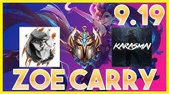 CHALLENGER ZOE Main Carrying Scrubnoob and Destroying Karasmai! - League of Legends Gameplay