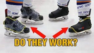 High impact (slap shot) hockey skate protectors - Skate Fender vs CF9 review