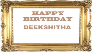 Deekshitha   Birthday Postcards & Postales - Happy Birthday