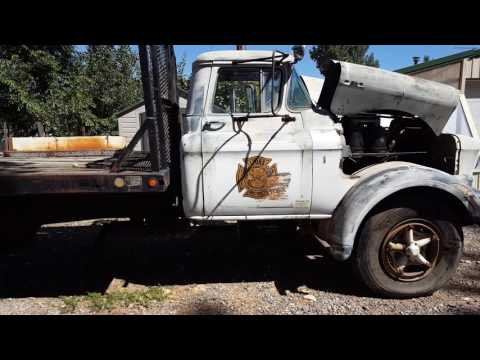 1955 GMC 503 gas straight six comes to life - YouTube