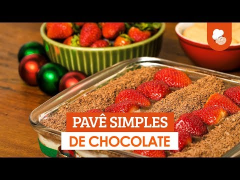 Pavê simples de chocolate — Receitas TudoGostoso