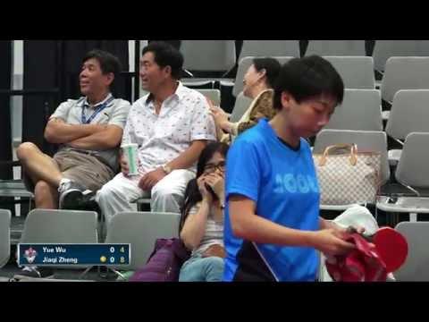 2016 US National Championships - Yue Wu vs. Jiaqi Zheng (Women's QF)