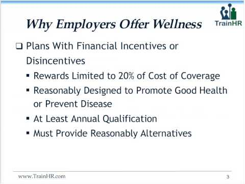 Wellness Plan Incentives After Health Care Reform - TrainHR