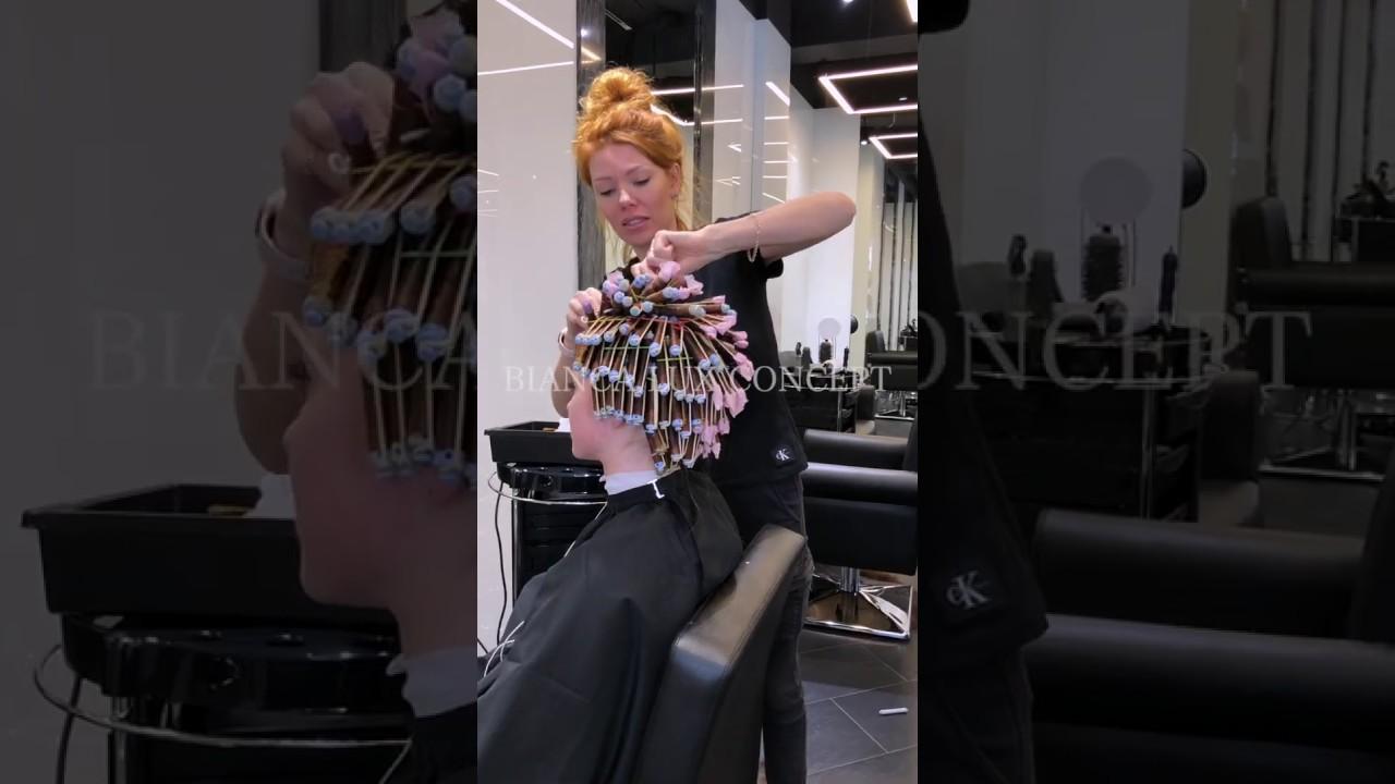 Вертикальная химическая завивка волос от Bianca Lux