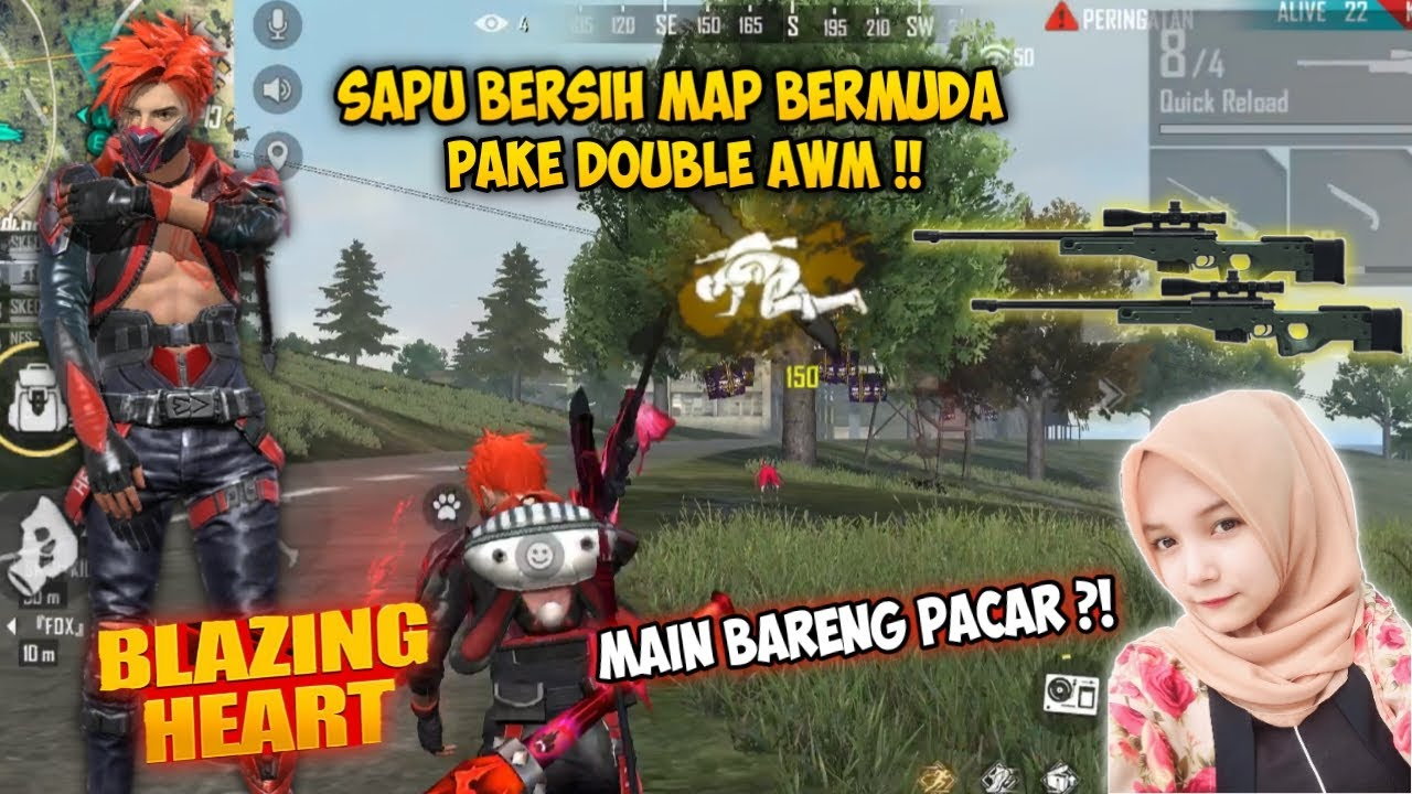 MAIN BARENG PACAR PAKE BUNDLE TERBARU + DOUBLE AWM !! FREEFIRE BATTLEGROUND