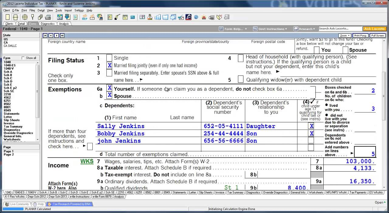 Lacerte tax software tutorial