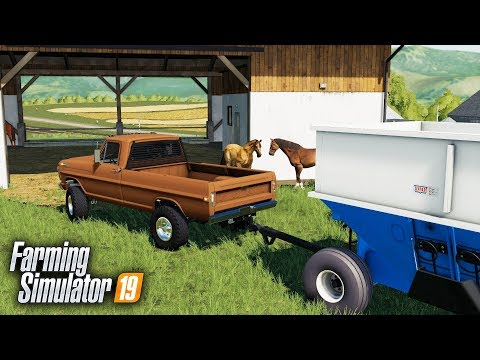 FS19- SATURDAY MORNING CHORES! HAULING IN OATS FOR THE HORSES & HARVEST thumbnail