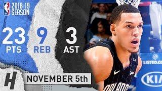 Aaron Gordon Full Highlights Magic vs Cavaliers 2018.11.05 - 23 Pts, 3 Ast, 9 Rebounds!