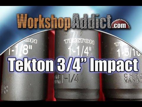 "TEKTON 3/4"" Drive Deep Impact Socket Set 4889 4891"