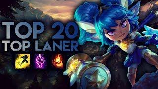 Top 20 TOP LANER Plays #01 | League of Legends